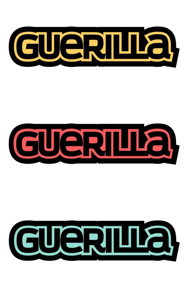 Guerilla Limited Logo by Joey Tabback, via Behance