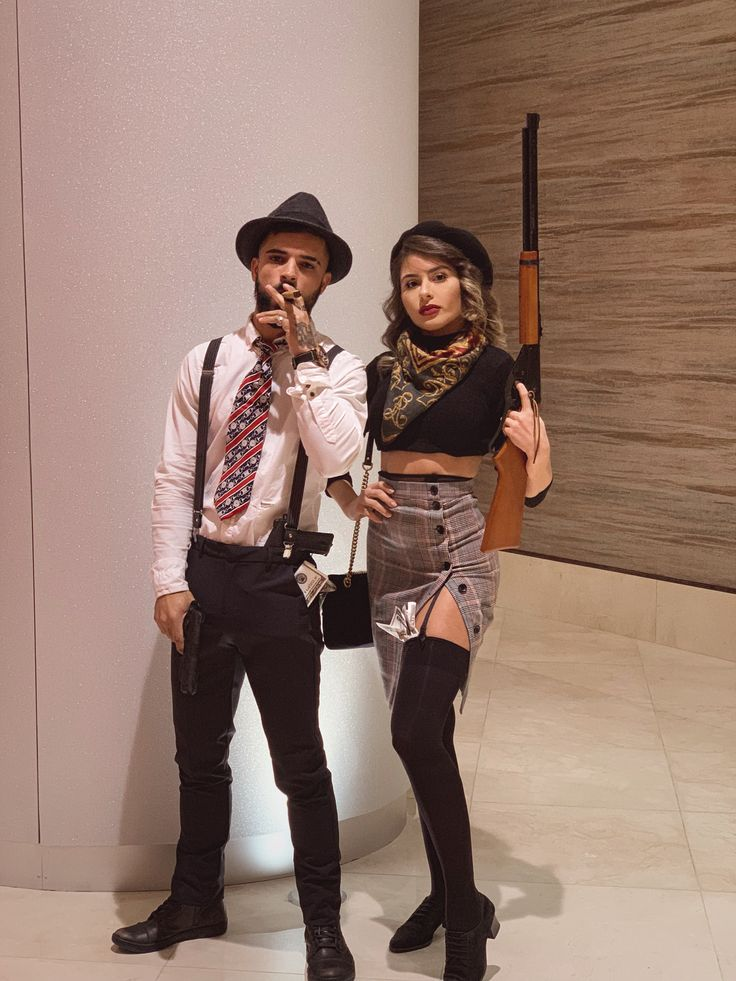 Bonnie And Clyde Couple's halloween costume Boyfriend and