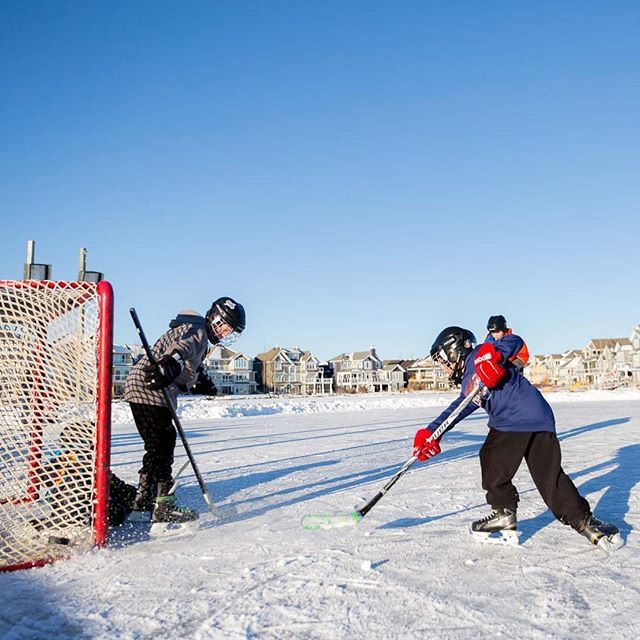 What a perfect afternoon for some hockey on an outdoor rink in your community! Where's your favourite place to skate?
