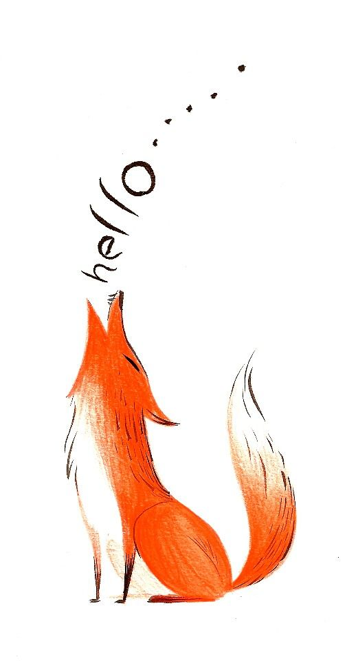 """""""Hi ....""""   <3  Love this little fox!"""