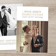 Carte de remerciement mariage La vie est belle !