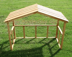 Wooden outdoor nativity stable crafts pinterest