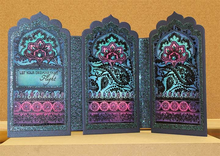 Indian Screen Card by Elaine - Chocolate Baroque
