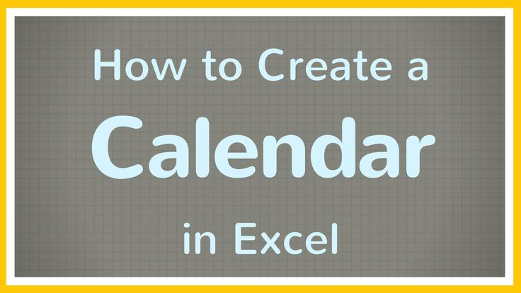 Short tutorial on how to create a calendar in Excel for a month. We'll make a month calendar in Excel that can be recreated for any month, for any year. We'll create the calendar so that it's fillable and printable.