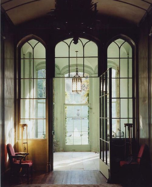 209 best halls and entryways images on pinterest door for Gothic revival interior