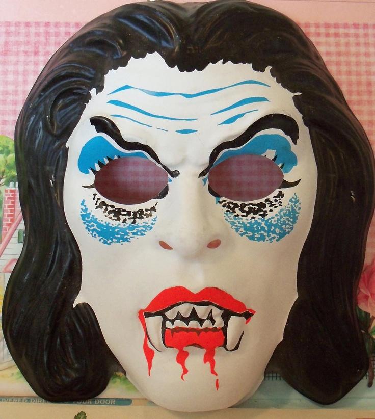 Vintage / Collegeville / Vampire Mask / Child Size. $5.95, via Etsy.