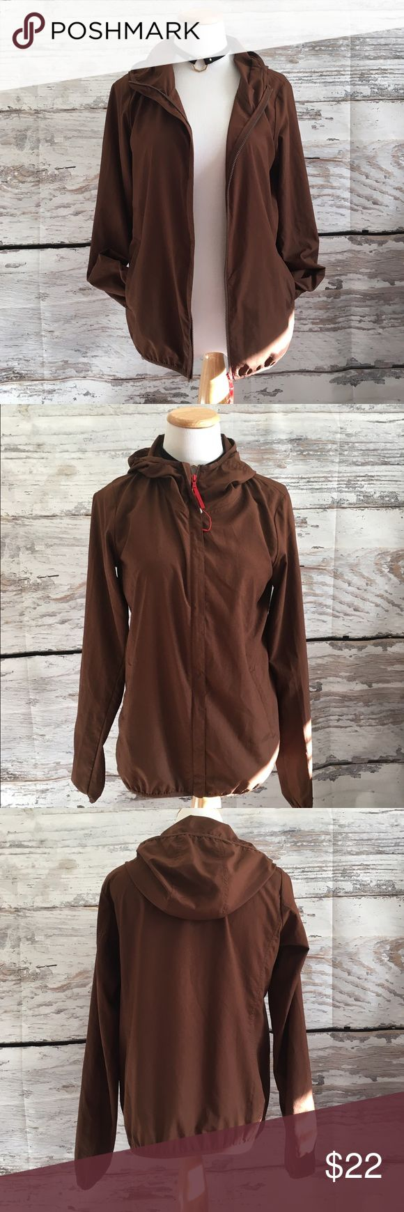 NWOT uniqlo ultra light brown windbreaker Never worn size small Uniqlo Jackets & Coats Utility Jackets