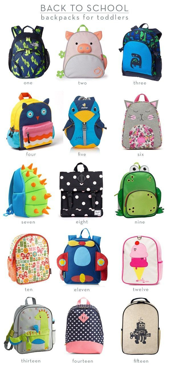 Fifteen Backpacks for Toddlers