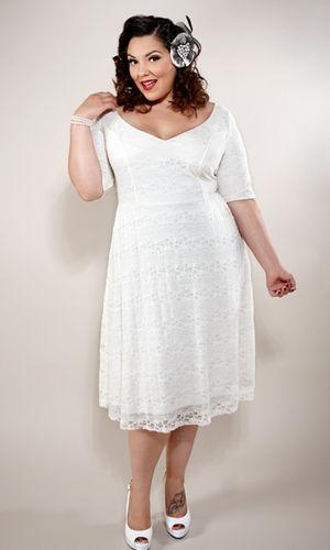 Plus size chocolate lace dress