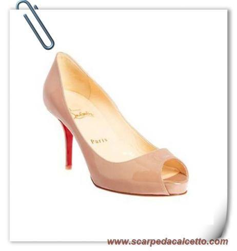 scarpe da calcio Donna Christian Louboutin Mater Claude 100mm Nude