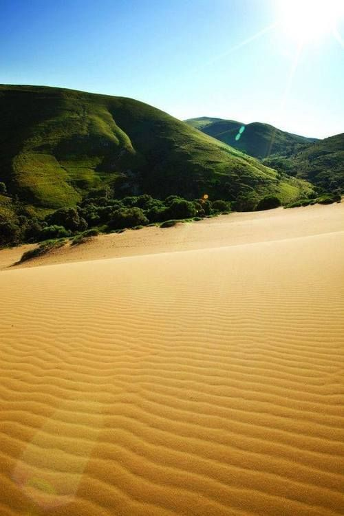 Sand dunes in Lemnos island #Greece