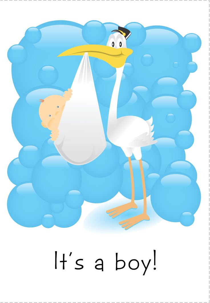 Free Printable Its A Boy Greeting Card