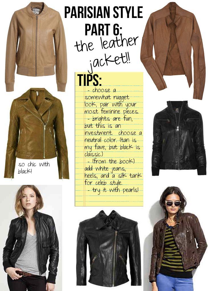 Parisian Style, Part 6: The Leather Jacket | Stripes & Sequins