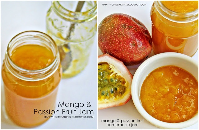 This mango and passion fruit jam is so simple to make