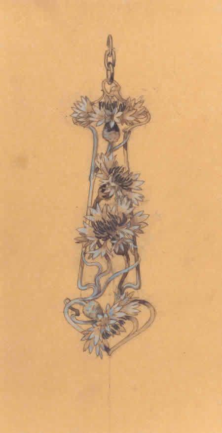 Р. Лалик Рисунок Цветочный кулон