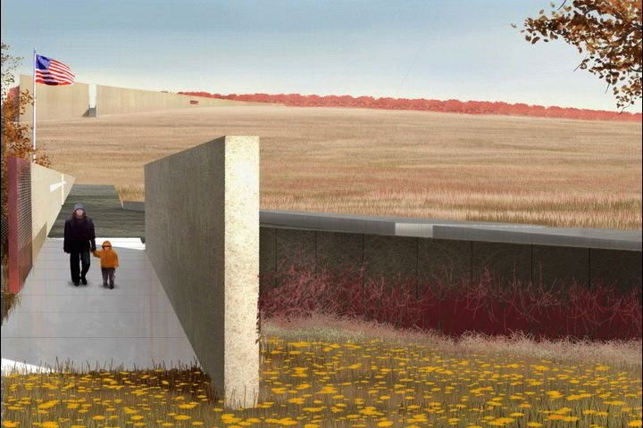 Flight 93 Memorial, Shanksville PA. Memorial (One of the 4 Targets of #911 was the US Capitol via Flight 93. This was a failed attack by terrorists as Passengers and Pilot brought the plane down sacrificing there lives to save others ) Remembering and Honoring the Heroes of 9-11-2001