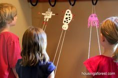 cute climbing toys, They are so simple to make and the kids had fun learning how to make them climb and then racing with them.
