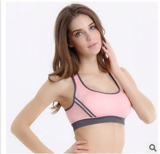 Vertvie Sports Bra Patchwork Back Cross Padded Push Up Bra Breathable Seamless Crop Top Stretch Athletic Gym Vest Women Fitness