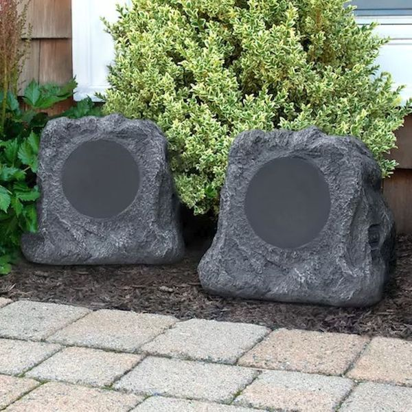 Inn Itsbo 513p5 Bluetooth Outdoor Rock Speakers Pair By Innovative Technology Rock Speakers Innovation Technology Outdoor Speakers