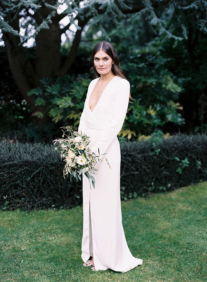 A chic, modern wedding dress.