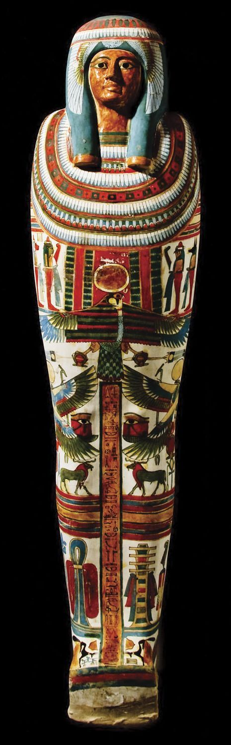 """The Mummy & Coffin of Meresamun  --  She was a """"Singer in the Interior of the Temple of Amun"""" at Karnak & part of a divine choir that sang & made music during temple rituals."""