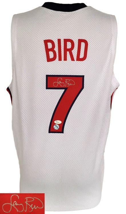 Larry Bird Signed Custom White Olympic Basketball Jersey JSA+Bird Holo