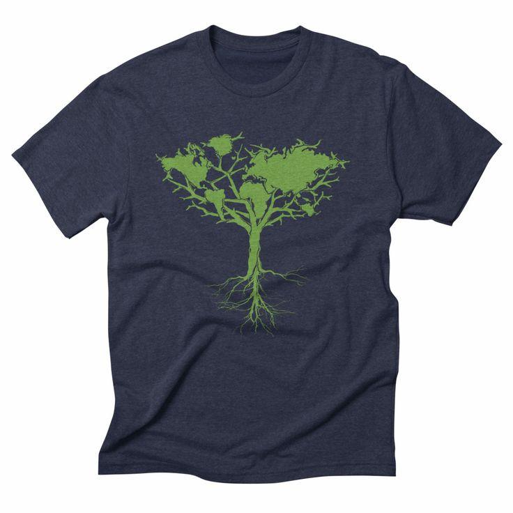 Earth tree, triblend navy blue t-shirt. #earthtree #earth #tree #nature #green #environment #sustainable #ecofashion #ecofriendly #eco #climatechange #tshirt #tshirtdesign #apparel #clothing #menswear #outdoor #adventure #womensfashion