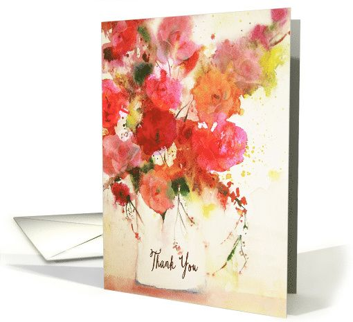 Thank You and Happy Administrative Professional Day, Watercolor Roses card