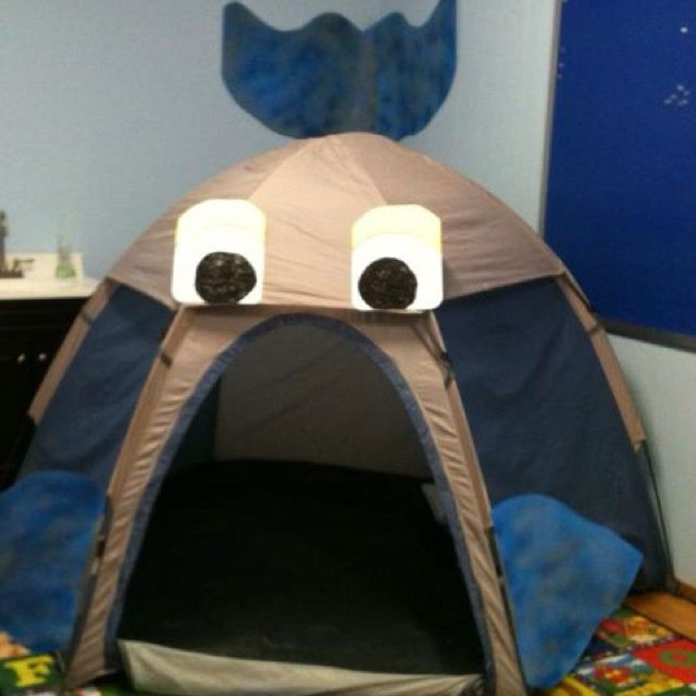 Jonah Sunday school lesson idea.  All you need is a little tent.