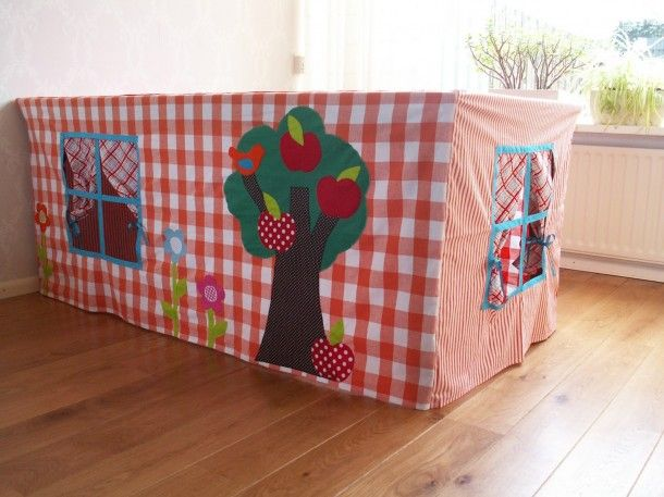 Table tent house for the kids :-) I would have definitely wanted one like these!