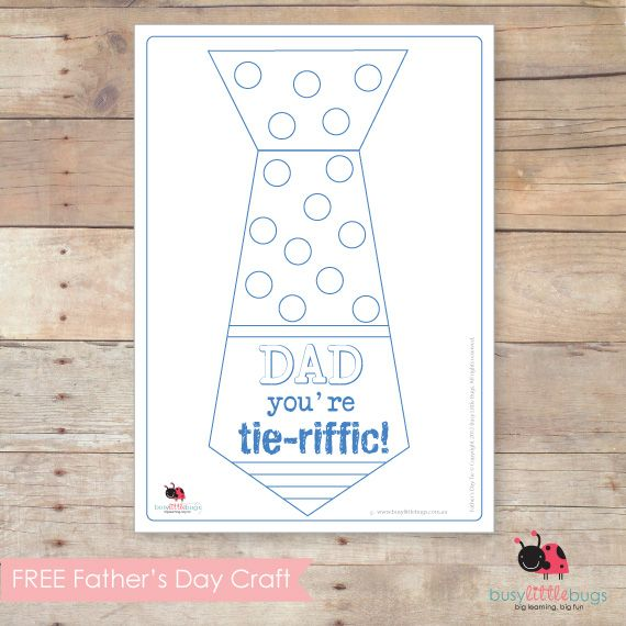 Father's Day Tie Craft Template
