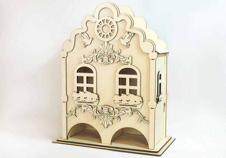 """Неокрашенный """"Голландский домик"""" дает вам простор для творчества, вы можете сделать его неповторимым и покорить своих близких. Ведь что может быть лучше подарка, сделанного своими руками? Привлеките к созданию шедевра ребенка, ему обязательно понравится роспись по дереву. Придумайте свой, неповторимый предмет интерьера, который украсит любую чайную церемонию!   #handmade #ручнаяработа #заготовкадлятворчества #ракраскииздерева #хобби #мастерская #сделанослюбовью #авторскаяработа #хэндмейд…"""