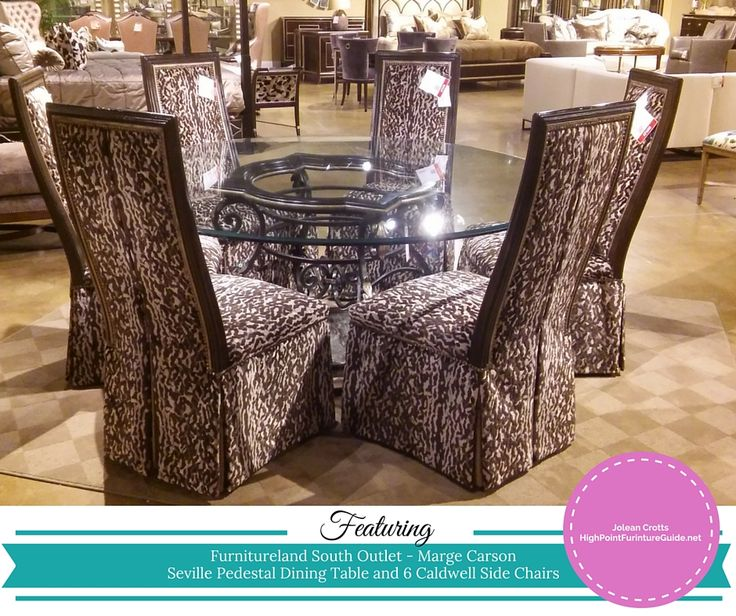 Marge Carson U2013 Seville Pedestal Dining Table And 6 Caldwell Chairs. Another  Great Buy Right Now At The Furnitureland South Outlet.