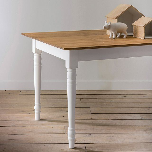 Table rectangulaire, 4 finitions Odette