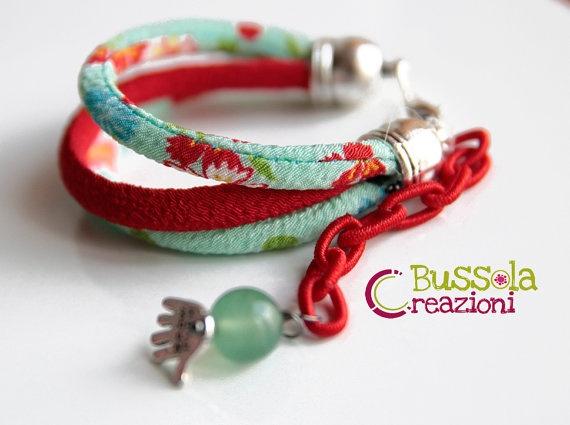 bracelet Question   aquamarine version by bussolacreazioni on Etsy, €15.00