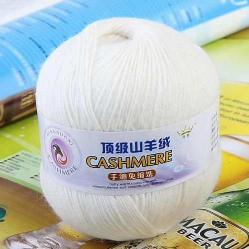 Free Shipping 1 Skein Ball Cashmere Knitting Weaving Wool Yarn White-in Yarn from Home & Garden on Aliexpress.com | Alibaba Group