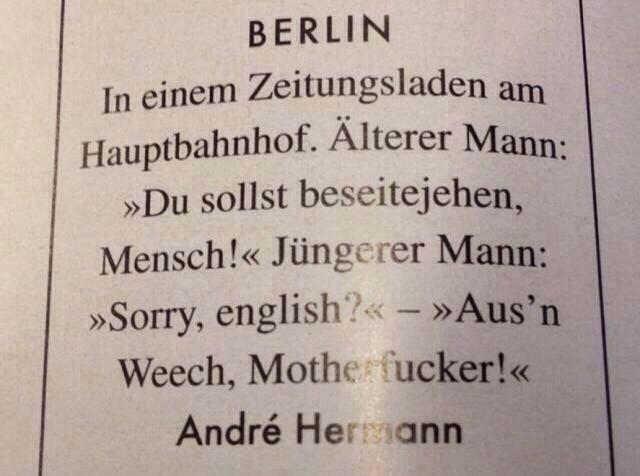 Genau. So. Ist. Berlin.