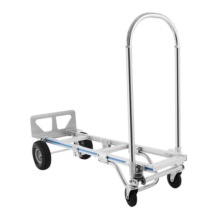 OrangeA Hand Truck 2 in 1 Aluminum Hand Truck 770lbs Capacity Hand Truck Dolly Convertible Hand Truck Utility Cart Foldable with 2 Wheel Dolly and 4 Wheel Cart (2 in 1)