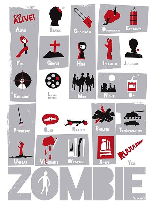 Zombie alphabet! A great way to teach and scare the kids at the same time!