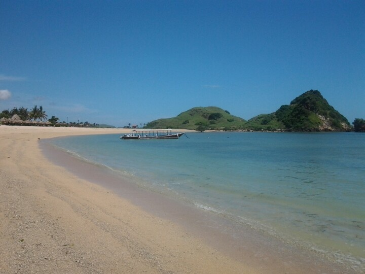 Kuta Lombok, on South Lombok Island, green, light blue and dark blue sea.. #WonderfulIndonesia #Lombok