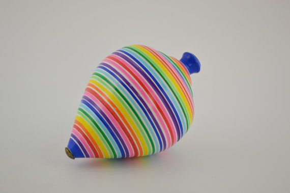 Wooden spinning top 16.5cm/6.5inches by CraftsAndMetal on Etsy
