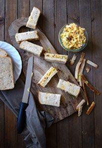 easy vegan coleslaw sandwich bars - perfect party snack