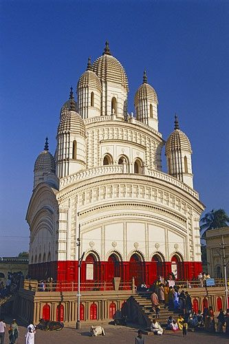 Built in 1855, the Temple of Dakshineswar in Calcutta, India is visited by millions of devotees who seek the blessings of Ma Kali