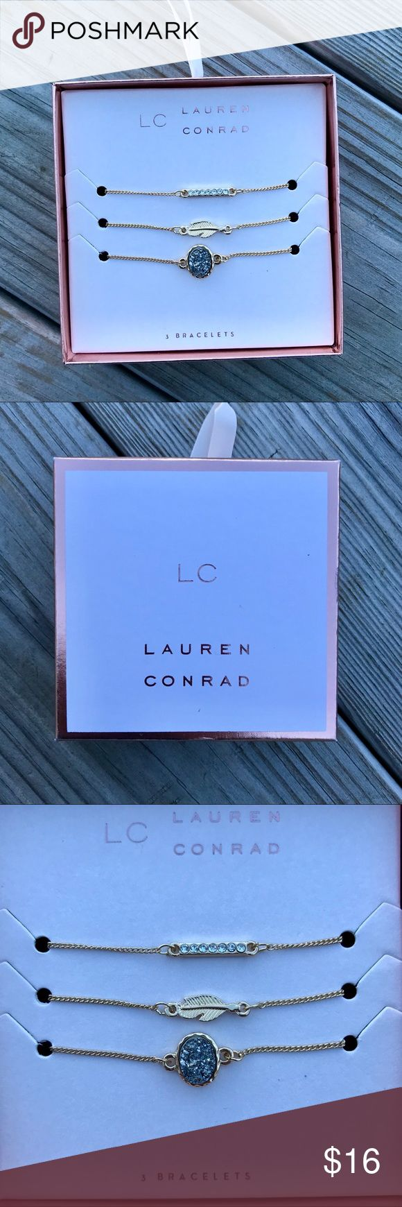 NWT•LC Lauren Conrad•Bracelet set of 3•Gold NWT•LC Lauren Conrad•Bracelet set of 3•Gold•if you have any questions about this listing feel free to leave me a comment•NO TRADING LC Lauren Conrad Jewelry Bracelets