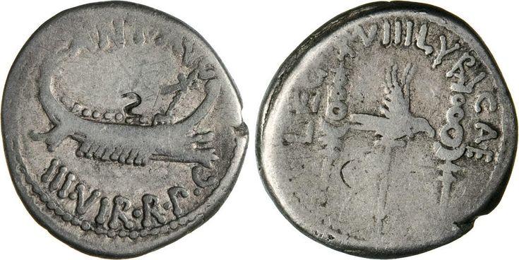 NumisBids: Numismatica Varesi s.a.s. Auction 65, Lot 127 : MARC'ANTONIO (32-31 a.C.) Denario, leg. XVIII LYBICAE. B. 130 ...