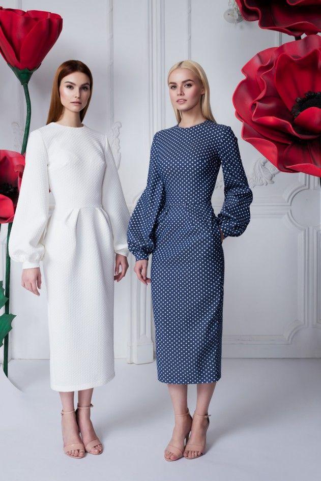 Платье горох — 26 990 рублей, Платье «Лиля» белое — 26 990 рублей