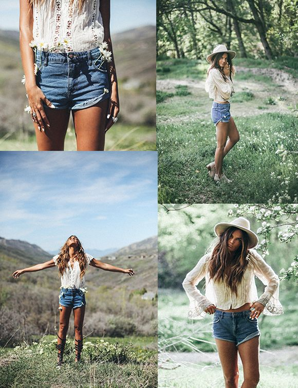 A pair of denim cutoffs are perfect for a summer day outside