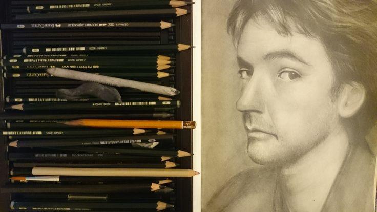 John Cusack. graphite,paper