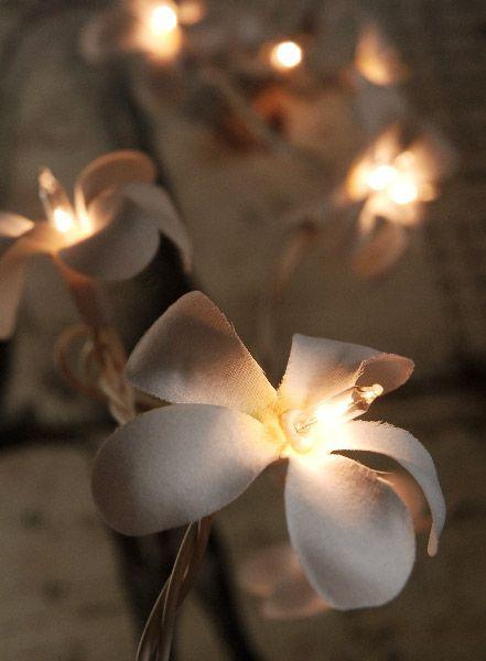 Plumeria Flower Lights 20 Flowers 10 Feet $14 set / 3 sets $12 each (end to end plug in)