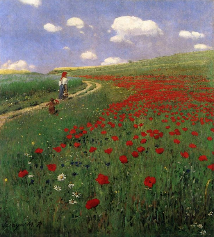 Szinyei Merse Pál(Hungarian,1845-1920)  Poppies in the Field,1902  Oil on canvas, 89 x 80 cm  Magyar Nemzeti Galéria, Budapest, Hungury